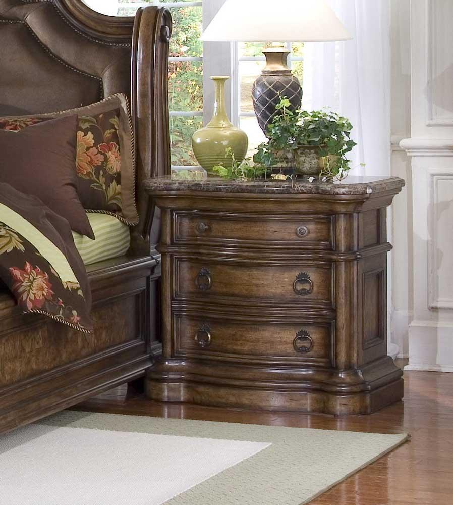 Pulaski Furniture San Mateo Three Drawer Marble Top