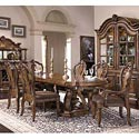 Pulaski Furniture San Mateo Double Pedestal Oval Top Dining Table - 662-242+243 - Shown here with 662-271 Arm Chairs and 662-270 Side Chairs