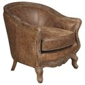 Pulaski Furniture Accent Chairs  Sloane Chair with Carved Wood Frame