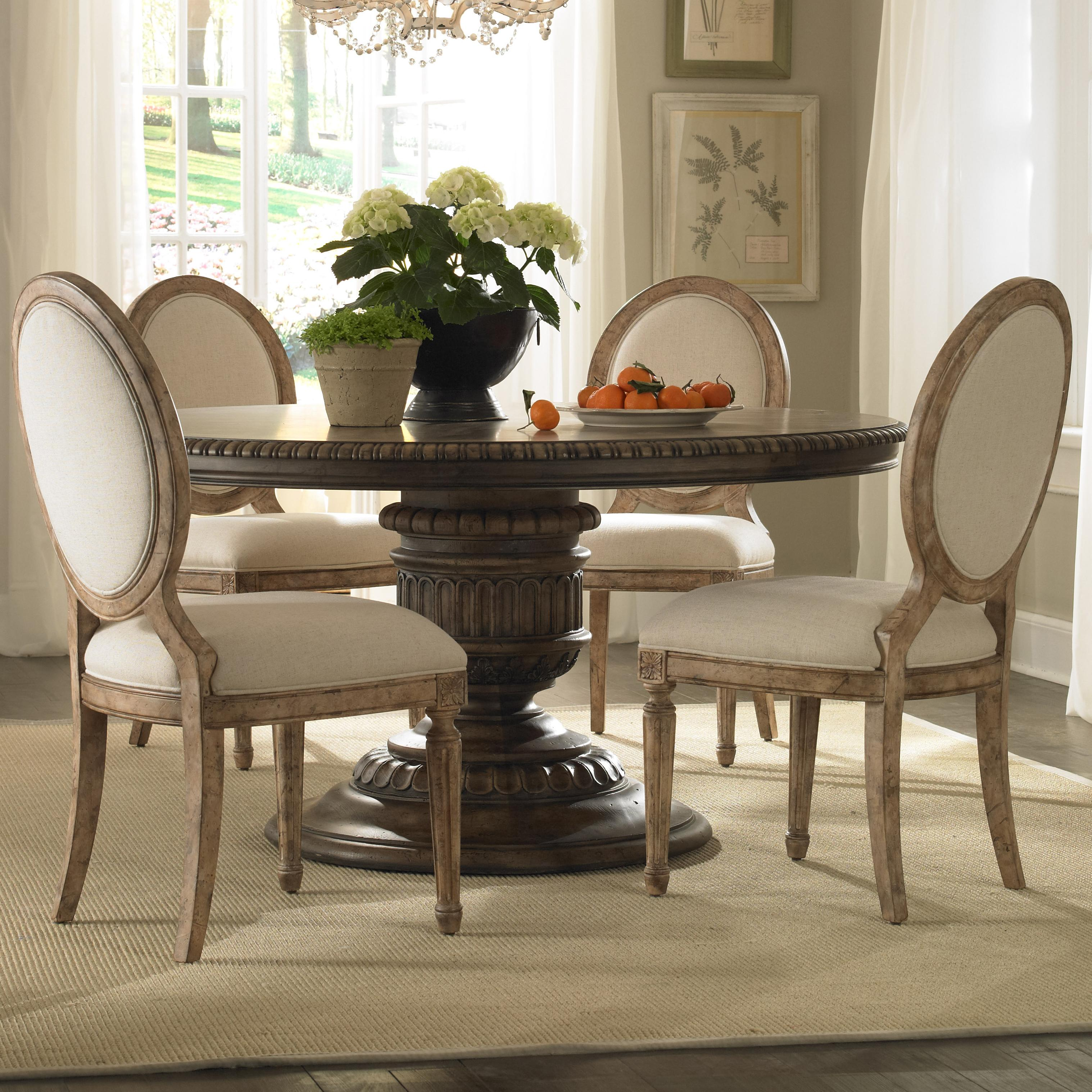Pulaski Furniture Accentrics Home 5 Piece Table & Chair Set - Item Number: 201007+08+4x205005