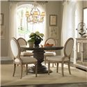 Pulaski Furniture Accentrics Home Daphne Round Pedestal Table - Shown in Room Setting