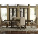 Pulaski Furniture Accentrics Home 7 Piece Table & Chair Set - Item Number: 201009+2x205011+3x21