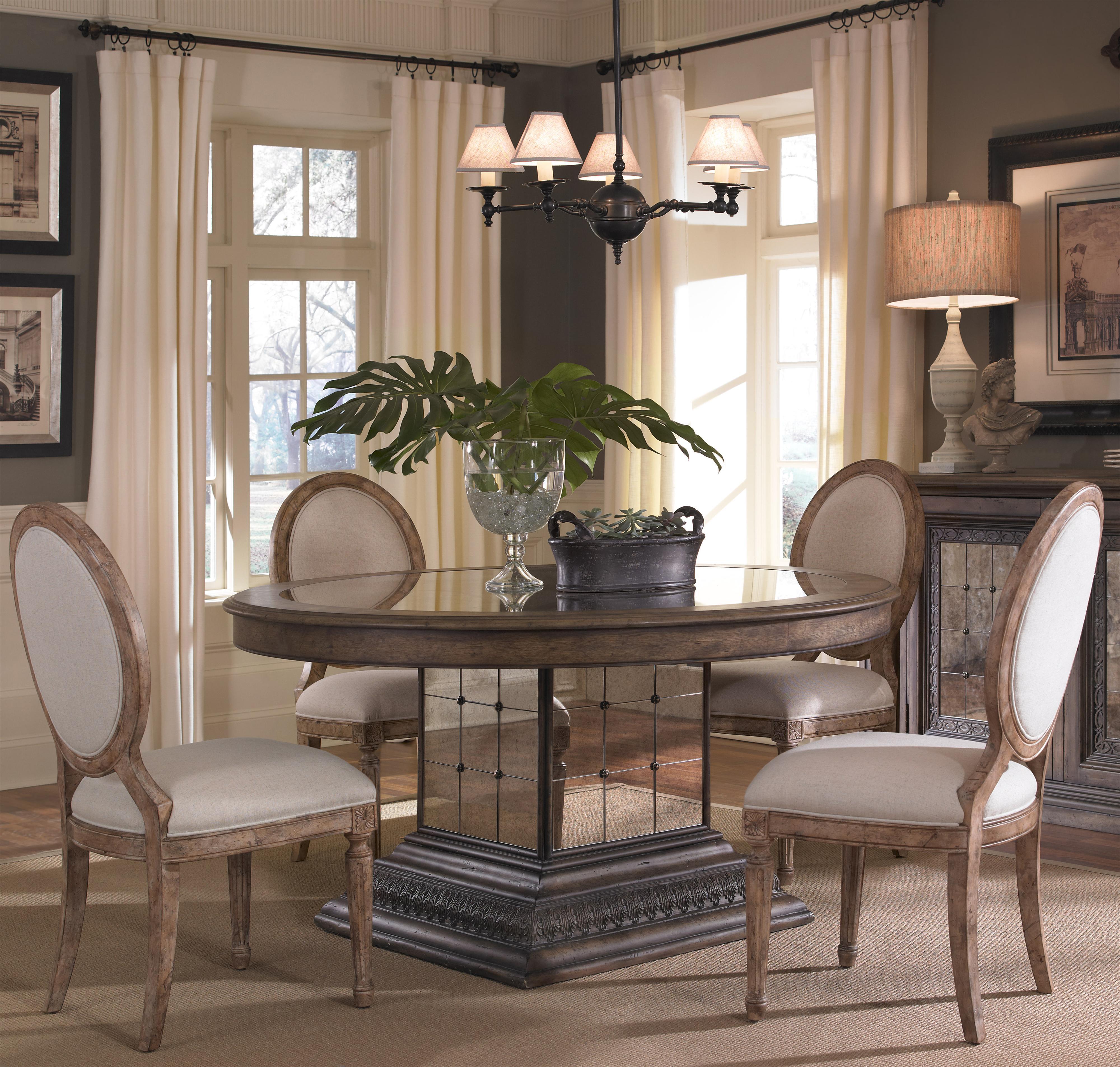 Pulaski Furniture Accentrics Home 5 Piece Aphrodite Table U0026 Anthousa Side  Chair Set   AHFA   Dining 5 Piece Set Dealer Locator