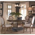 Pulaski Furniture Accentrics Home 5 Piece Table & Chair Set - Item Number: 201011+12+4x205005