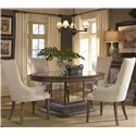 Pulaski Furniture Accentrics Home 5 Piece Table & Chair Set - Item Number: 201011+12+4x205017