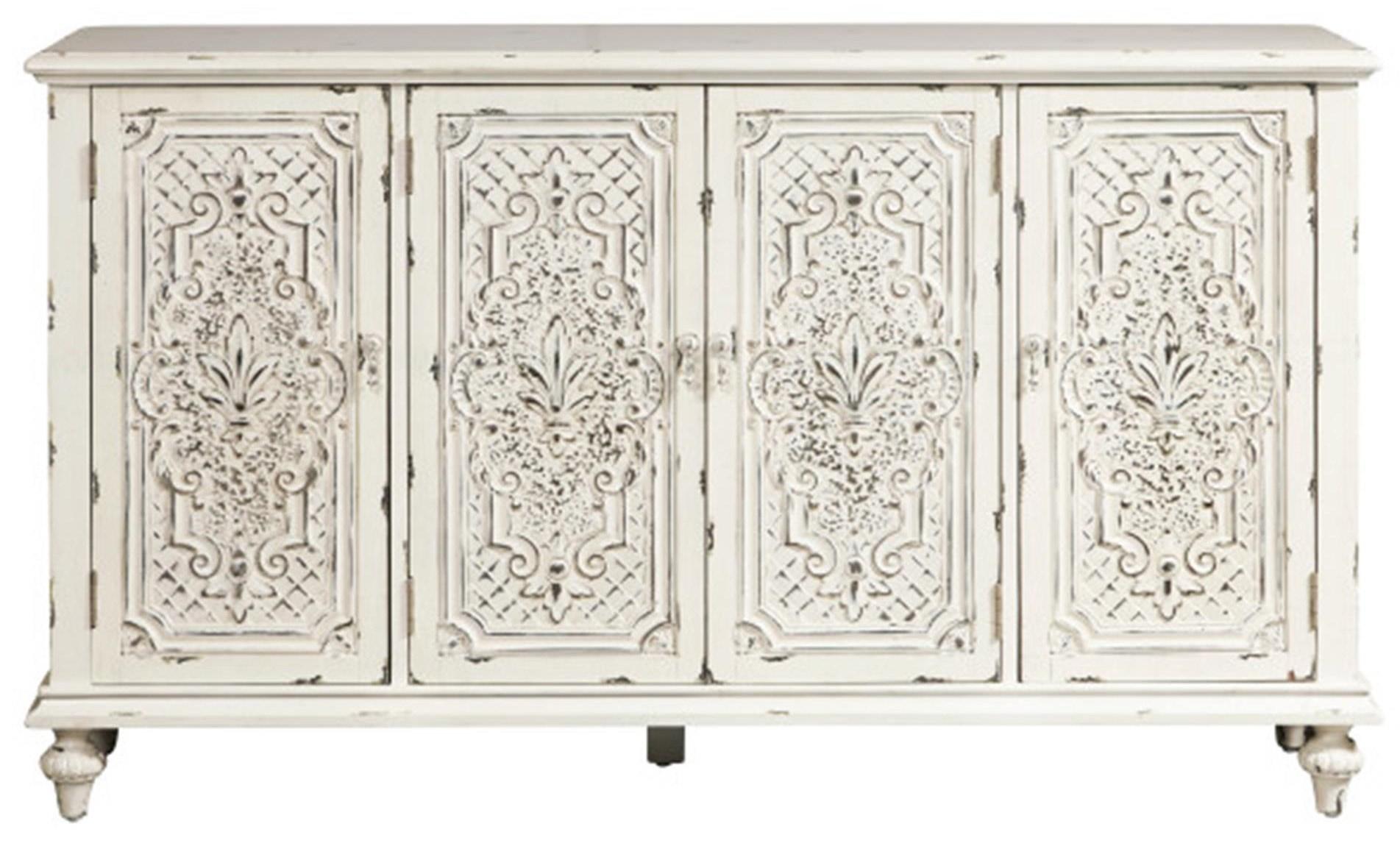 Pulaski Furniture Accents Ornate 4 Door Credenza - Item Number: D212-104