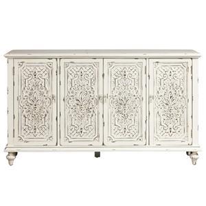 Pulaski Furniture Accents Ornate 4 Door Credenza
