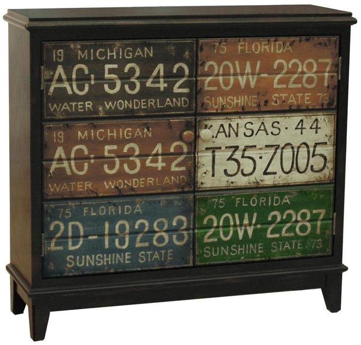 Pulaski Furniture Accents License Plate Accent Hall Chest - Item Number: DS-730005