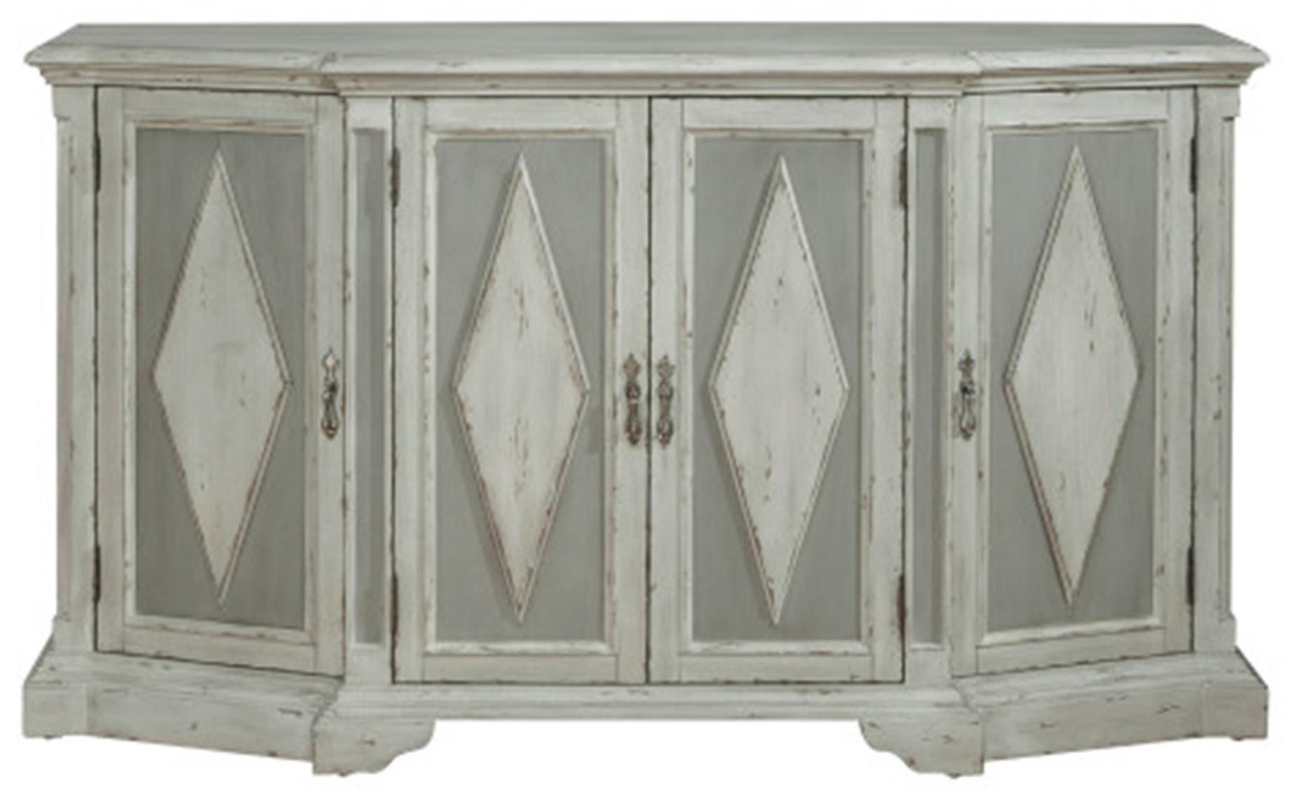 Grey Diamond Cabinet with Hidden Wine Bottle