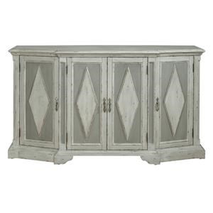 Pulaski Furniture Accents Grey Diamond Cabinet with Hidden Wine Bottle