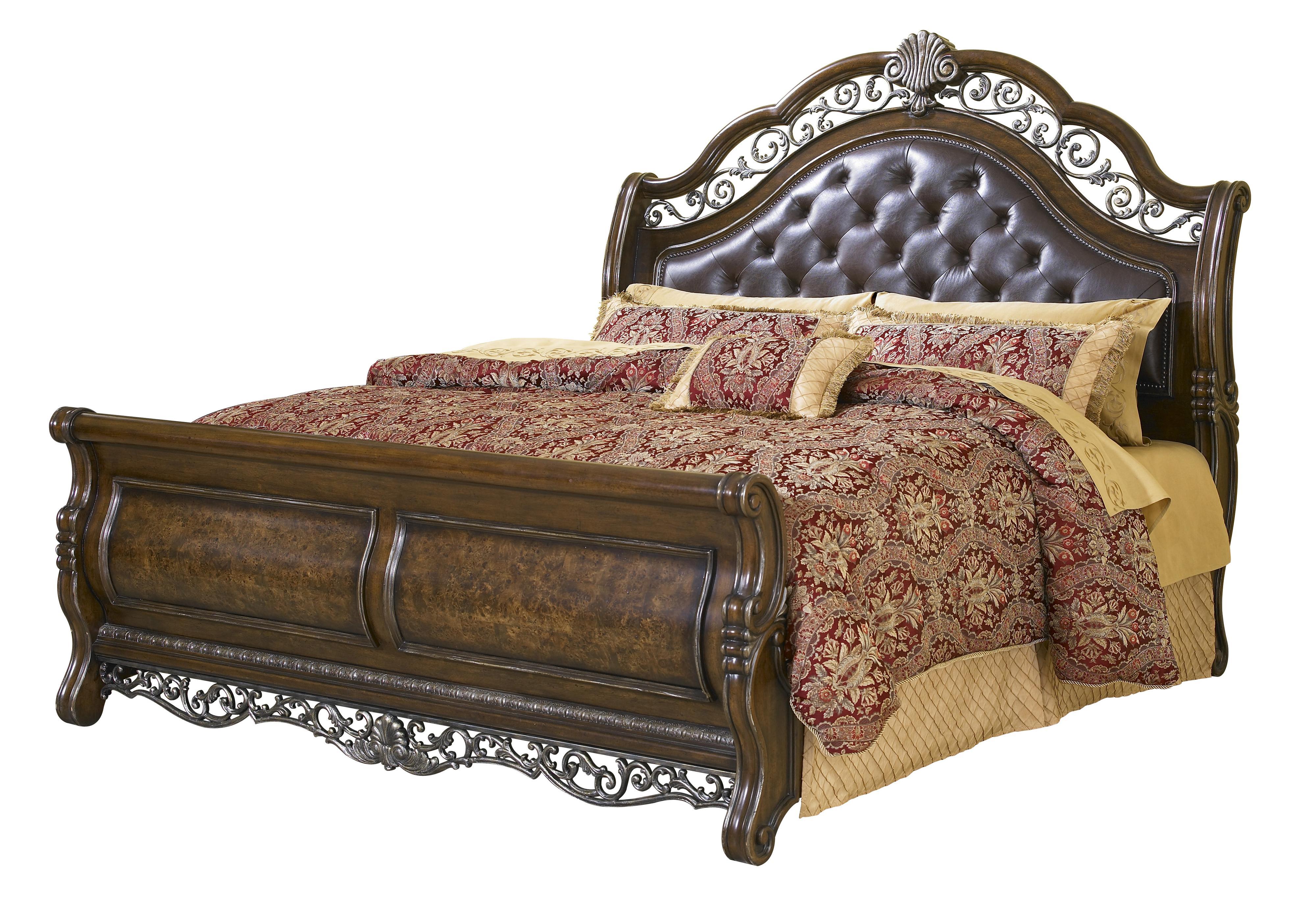 Pulaski Furniture Birkhaven Queen Sleigh Bed   Item Number: 991170+171+172