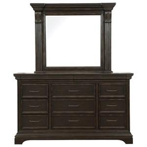 Pulaski Furniture Caldwell Dresser and Mirror Combo