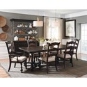 Pulaski Furniture Caldwell 7-Piece Table and Chair Set - Item Number: P012241+0+4x60+2x61