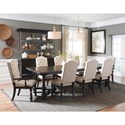 Pulaski Furniture Caldwell 9-Piece Table and Chair Set - Item Number: P012241+0+6x70+2x71
