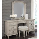 Pulaski Furniture Campbell Street Traditional 7-Drawer Vanity Desk