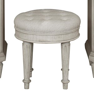 Traditional Upholstered Vanity Stool