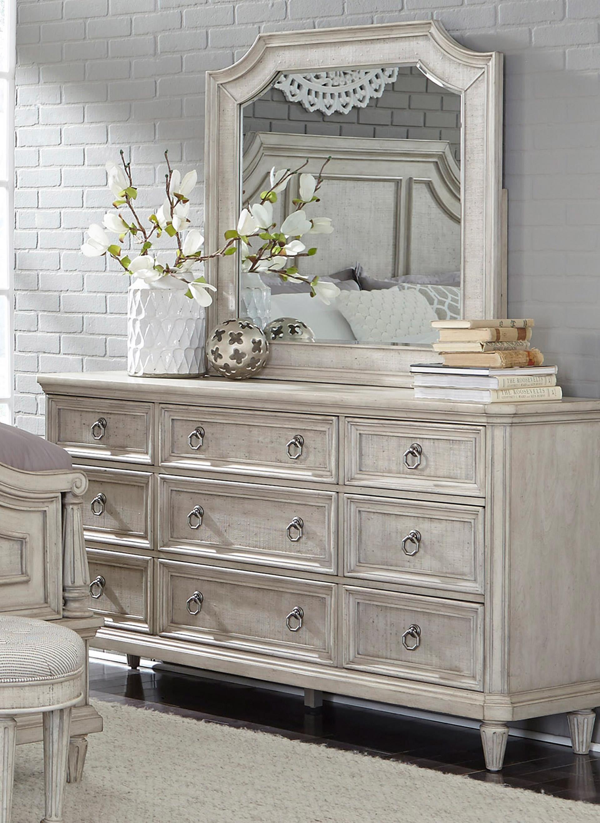 Pulaski Furniture Campbell Street Dresser & Mirror - Item Number: GRP-P1231XX-DRM