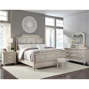 Pulaski Furniture Campbell Street King Bed, Dresser, Mirror, and Nightstand wi