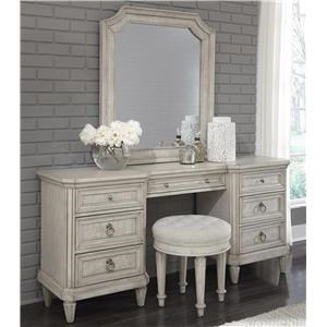 Pulaski Furniture Campbell Street Vanity Table with Mirror