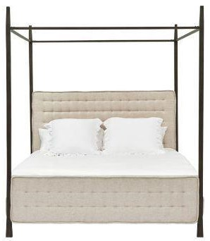 KING METAL CANOPY BED