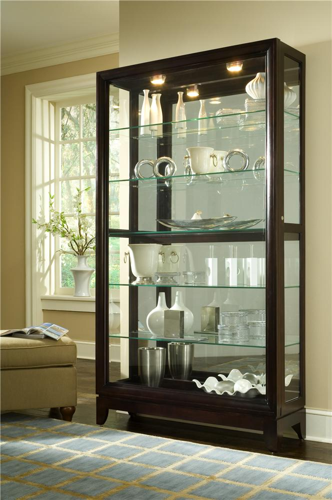 Curios Two Way Sliding Door Curio by Pulaski Furniture at Johnny Janosik