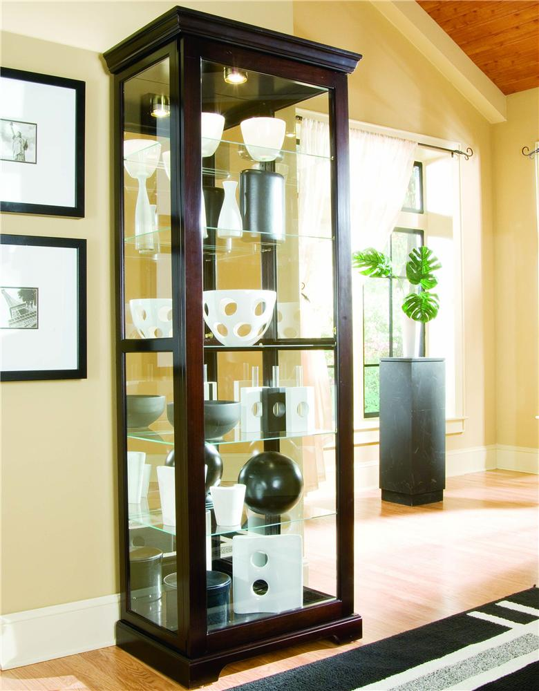 light pulaski cabinet in wood curio htm l
