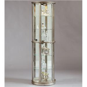 Platinum Glass Door Curio Cabinet