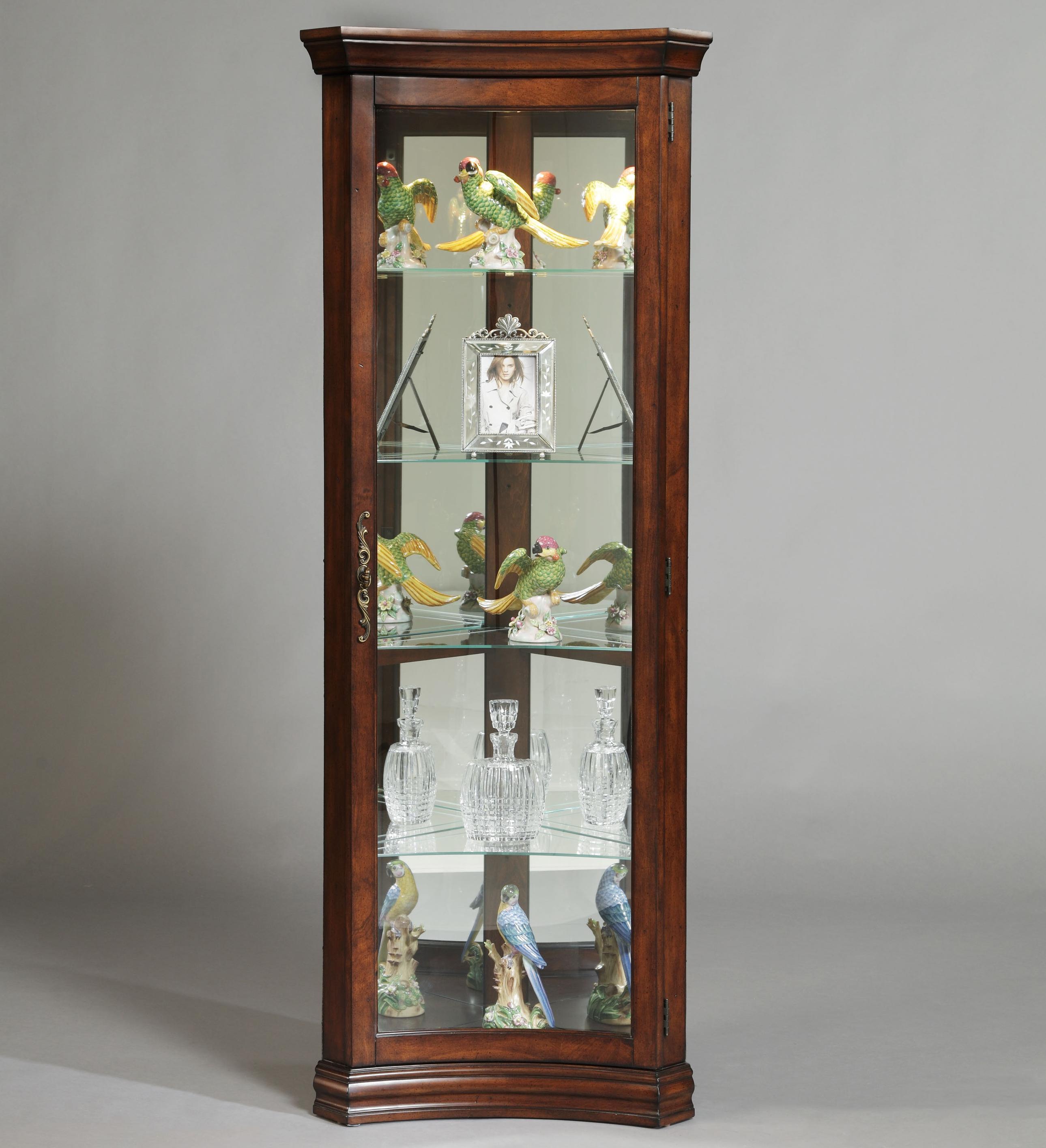 Curios Concave Corner Curio by Pulaski Furniture at Baer's Furniture