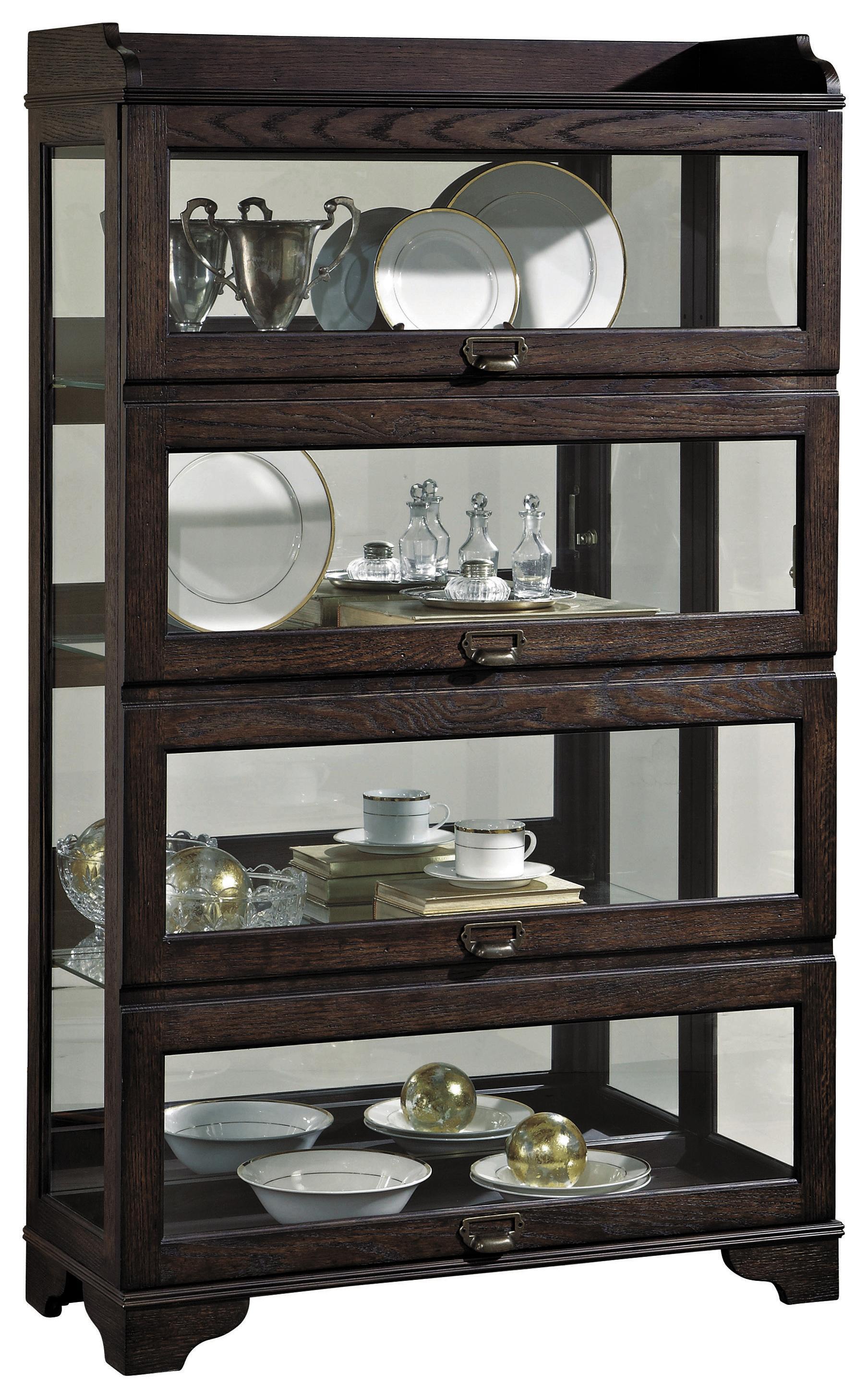 Pulaski Furniture Curios Low Sliding Front Curio Olinde 39 S Furniture Curio Cabinet