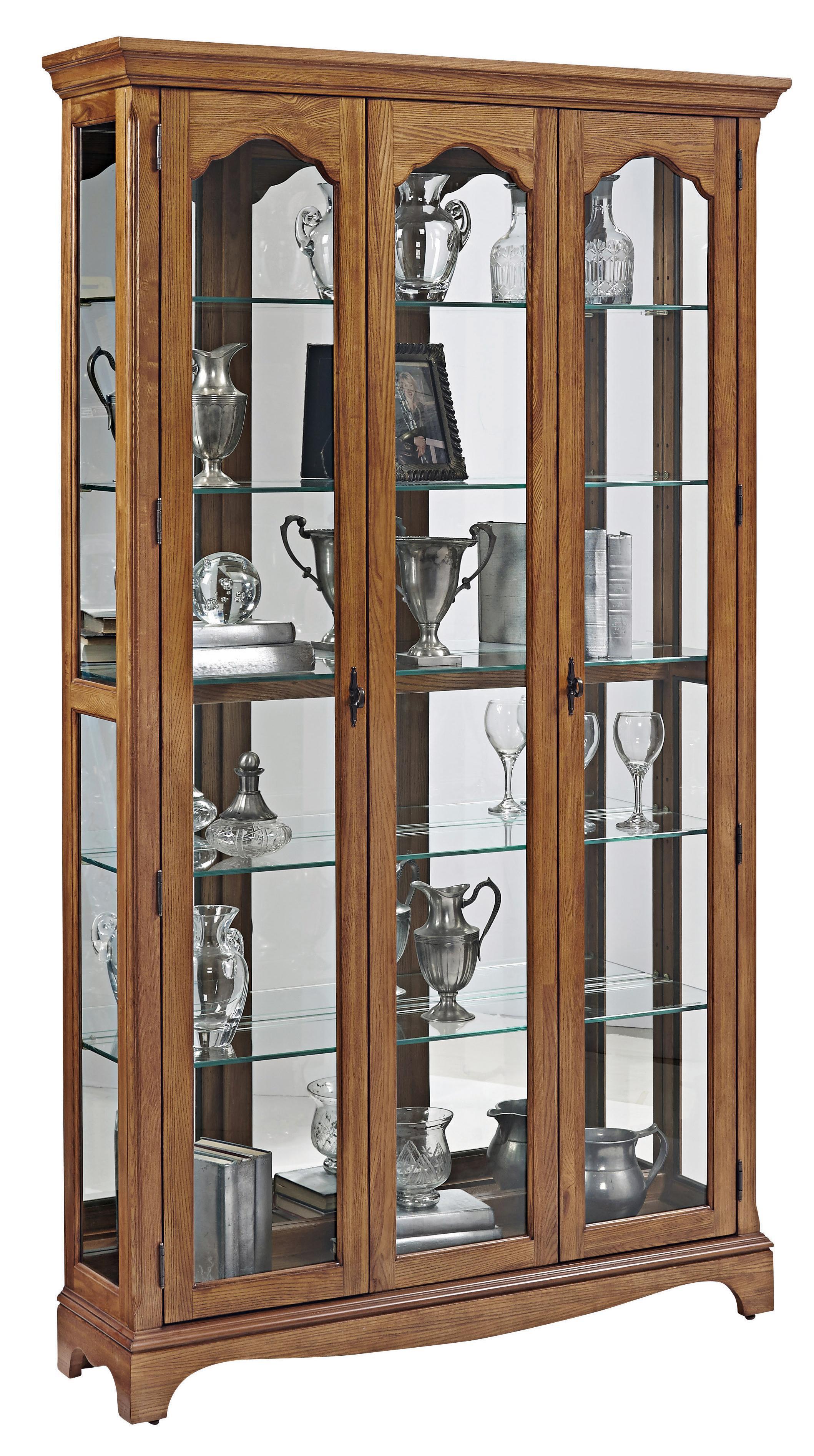 Pulaski Furniture Curios Tradtional Wide Curio W Glass Shelves Miskelly Furniture Curio Cabinet