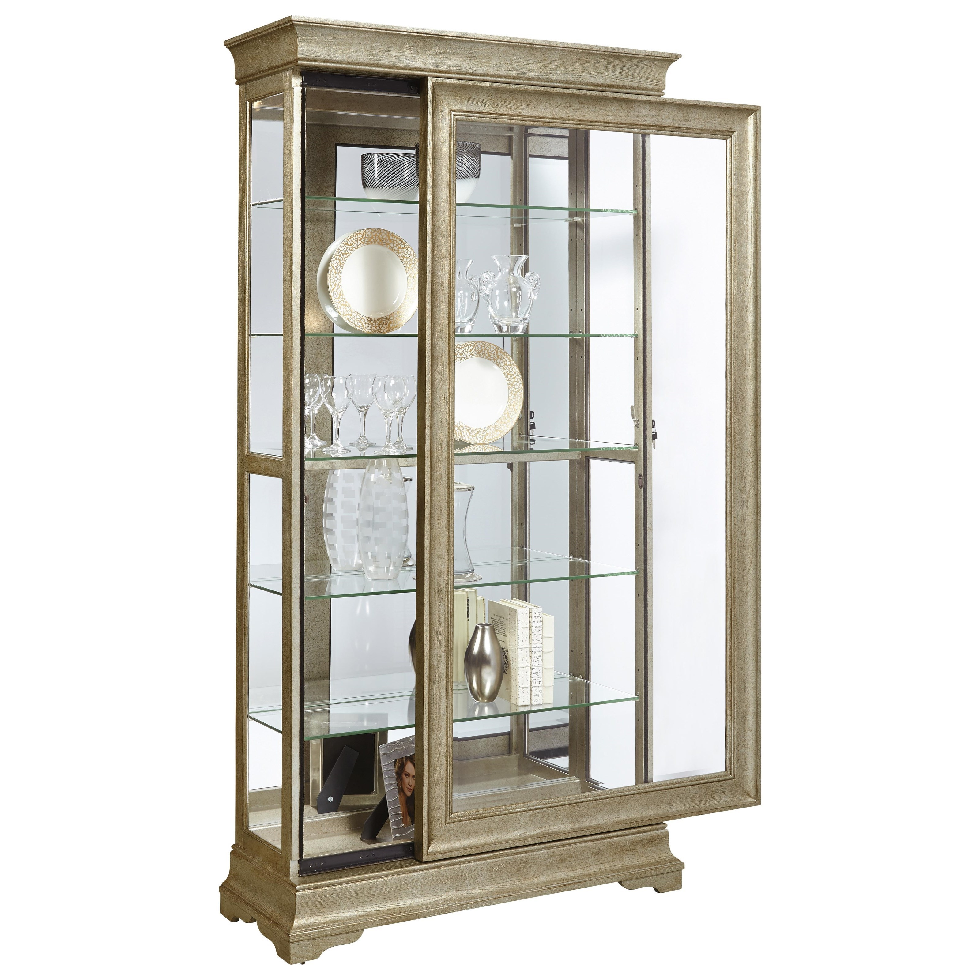 Pulaski Furniture Curios Lyon Curio With Louis Philippe Style Moldings Miskelly Furniture