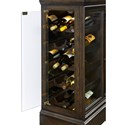 Pulaski Furniture Curios Wine Console with Side Entry Bottle Storage