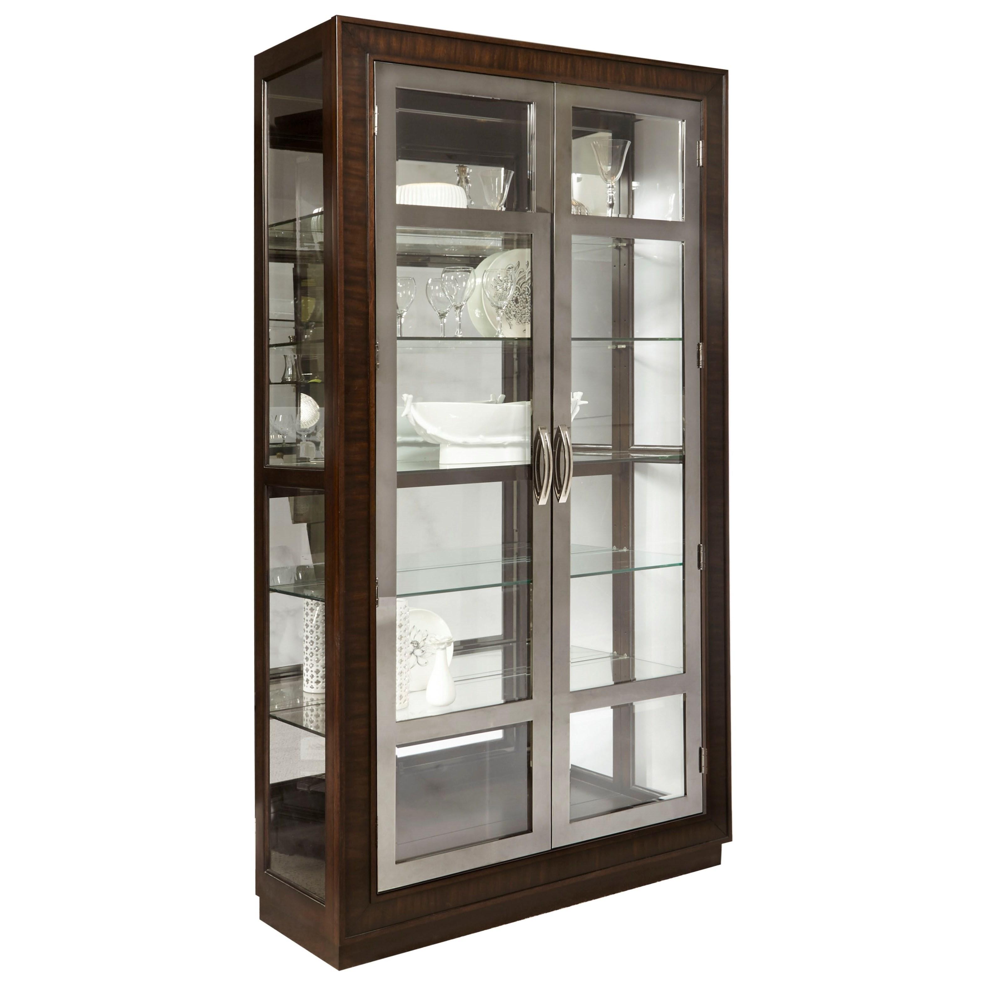 Pulaski Furniture Curios Nickel Door Curio - Item Number: P021609
