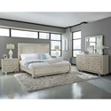 Pulaski Furniture Cydney Cal King Panel Bed with Upholstered Headboard