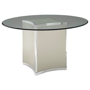 Contemporary Oval Dining Table with Glass Top