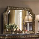 Pulaski Furniture Del Corto Ornate Mirror with Gold Finish and Removable Shell - 503110 - Shown without Shell Carving