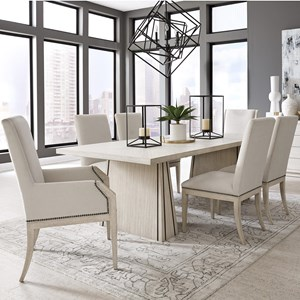 Contemporary 7-Piece Table and Chair Set