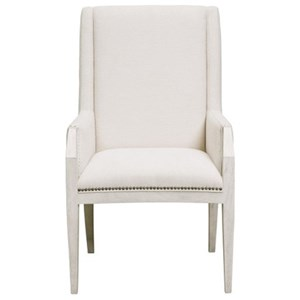 Contemporary Upholstered Arm Chair with Nail Head Trim