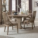 Pulaski Furniture Documentary 7-Pc Table and Chair Set - Item Number: P083241+240+6x265