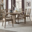 Pulaski Furniture Documentary 7-Pc Table and Chair Set - Item Number: P083241+240+P083261+2xP083260