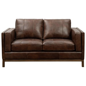 Contemporary Leather Loveseat