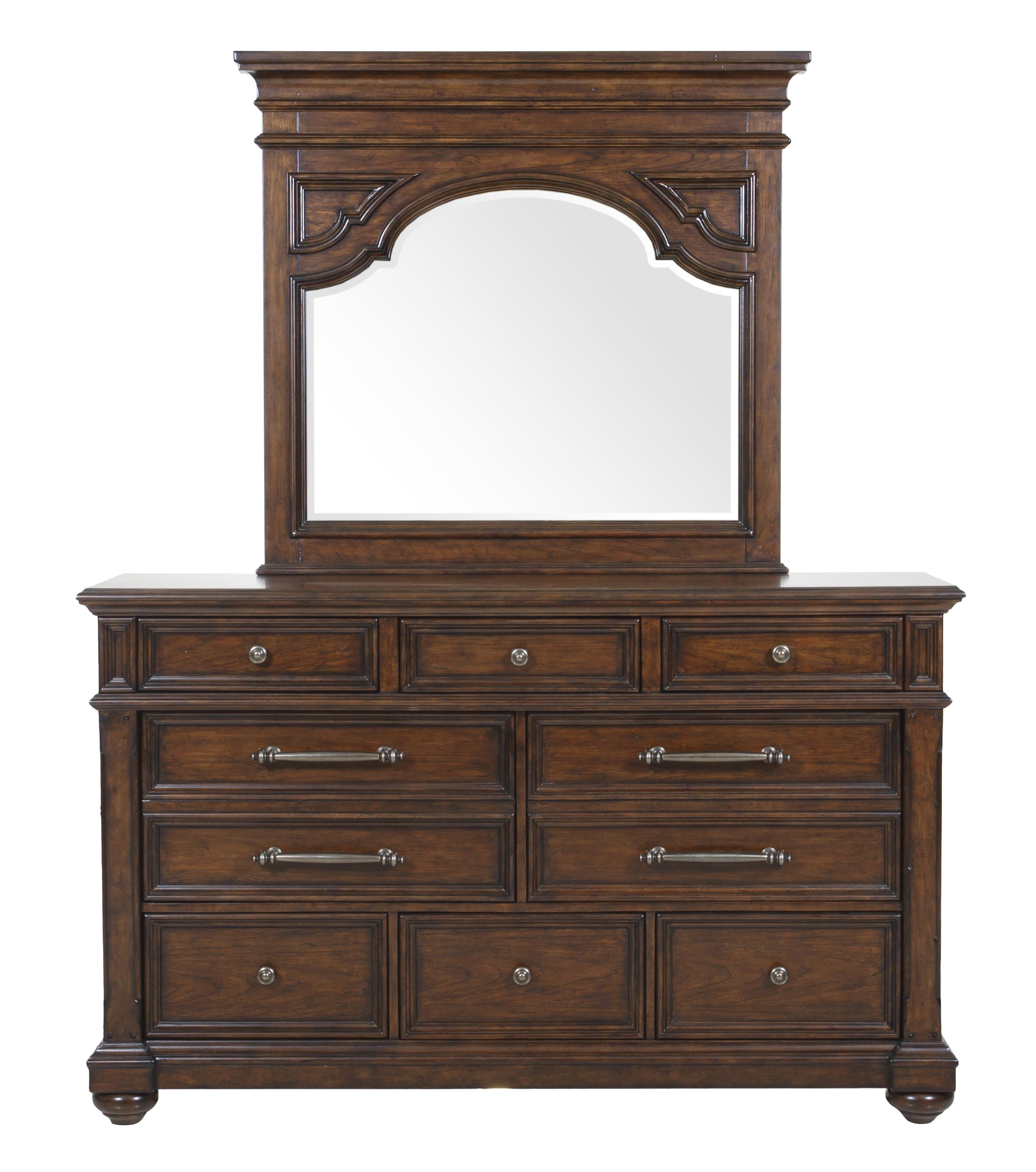 Pulaski Furniture Durango Ridge Dresser & Mirror Set - Item Number: 673100+10