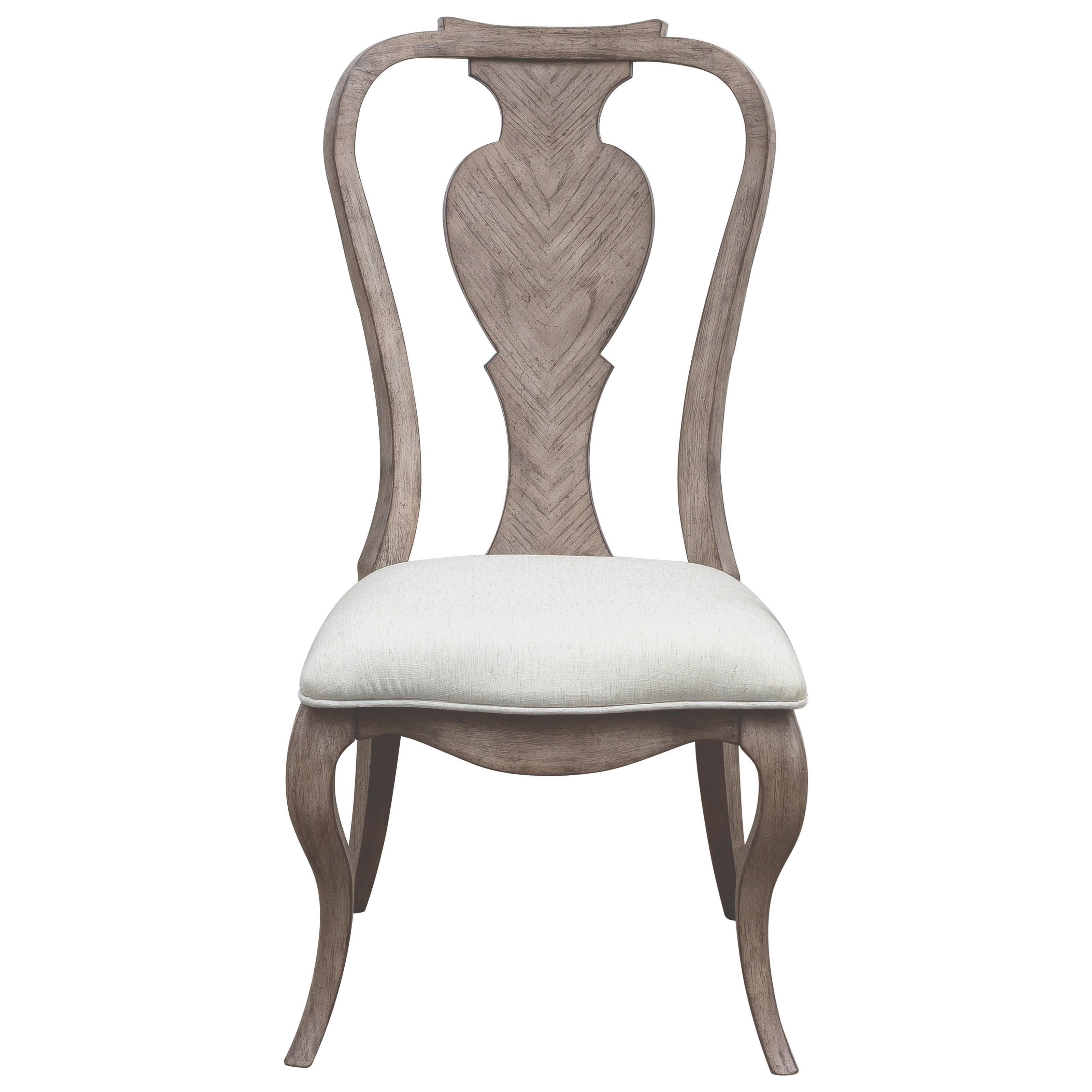 Pulaski Furniture Ella P221260 Traditional Splat Back Side Chair With Upholstered Seat Upper Room Home Furnishings Dining Side Chairs