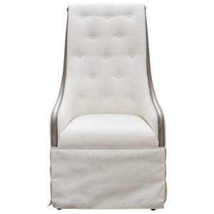 Traditional Fully-Upholstered Host Chair