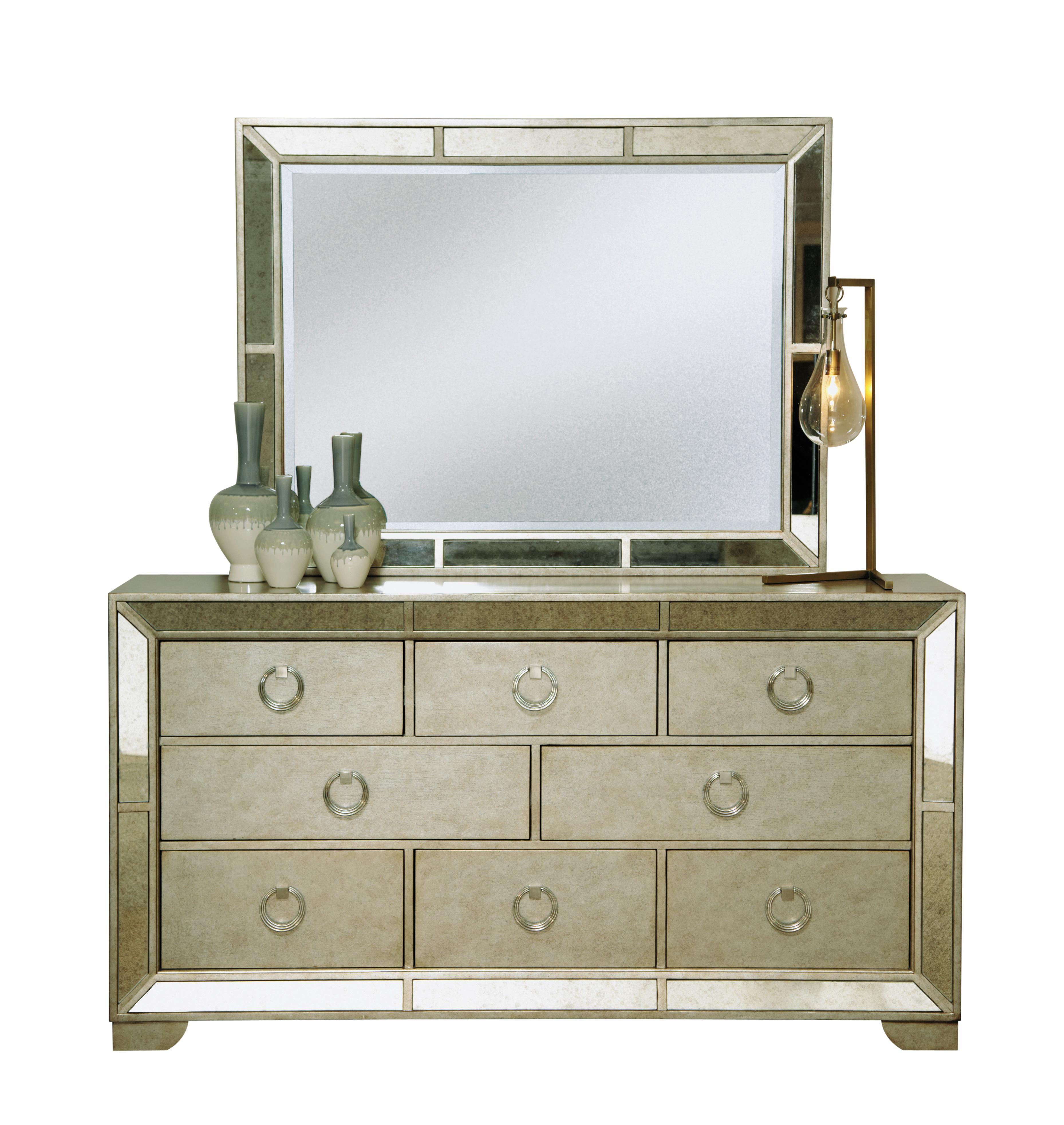 Pulaski Furniture Farrah Dresser & Mirror Set - Item Number: 395100+110