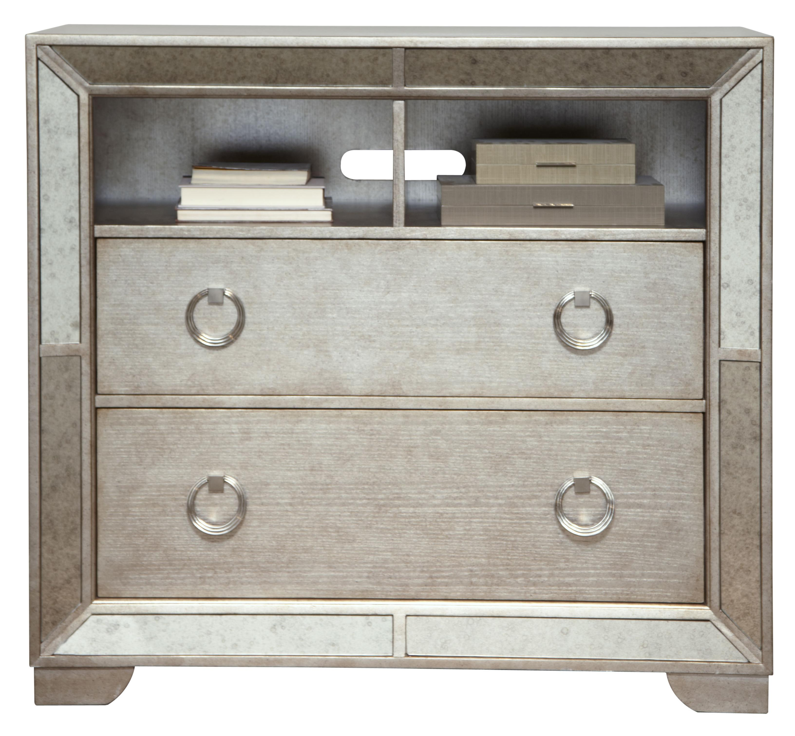 Farrah Media Chest W/ Open Shelving U0026 Drawers By Pulaski Furniture