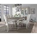 Pulaski Furniture Glendale Estates Farmhouse Formal Dining Room Group - Item Number: P166-W Dining Room Group 1