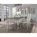 Pulaski Furniture Glendale Estates Farmhouse Formal Dining Room Group - Item Number: P166-W Dining Room Group 2