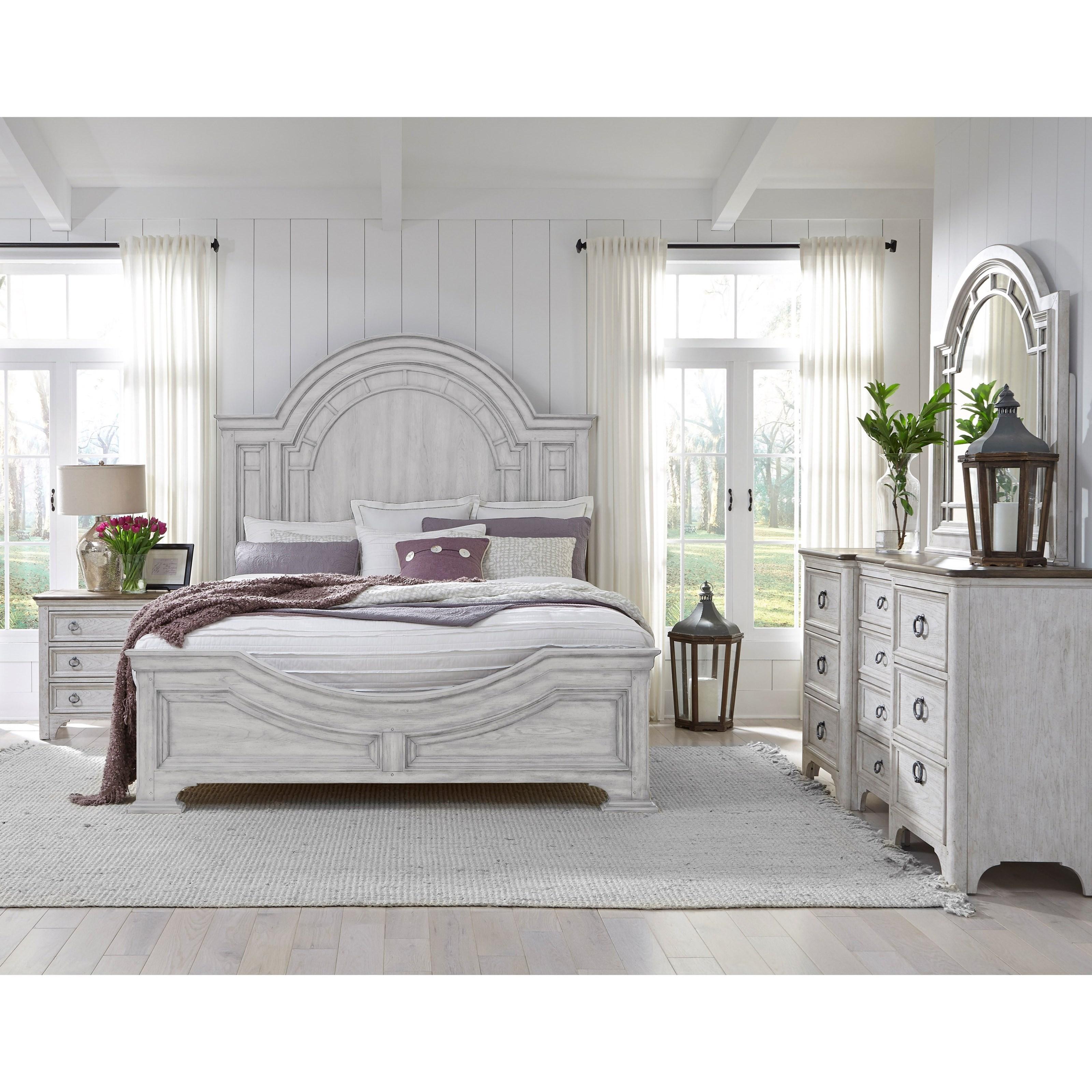 Pulaski Furniture Glendale Estates Farmhouse King Bedroom Group Rooms For Less Bedroom Groups