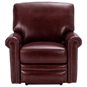 Traditional Power Reclining Chair with Nail Head Trim